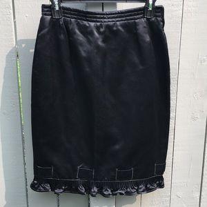 Valentino Night Satin High Waisted Skirt Size 6